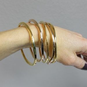 5 Jules Smith gold-plated Surf bangle braclets